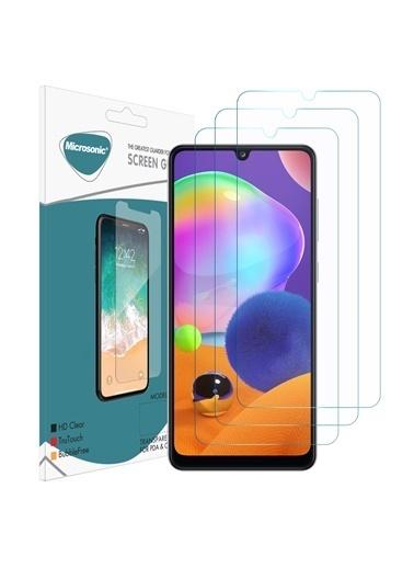 Microsonic Samsung Galaxy A31 Ekran Koruyucu Nano Cam (3'lü Paket) Renksiz